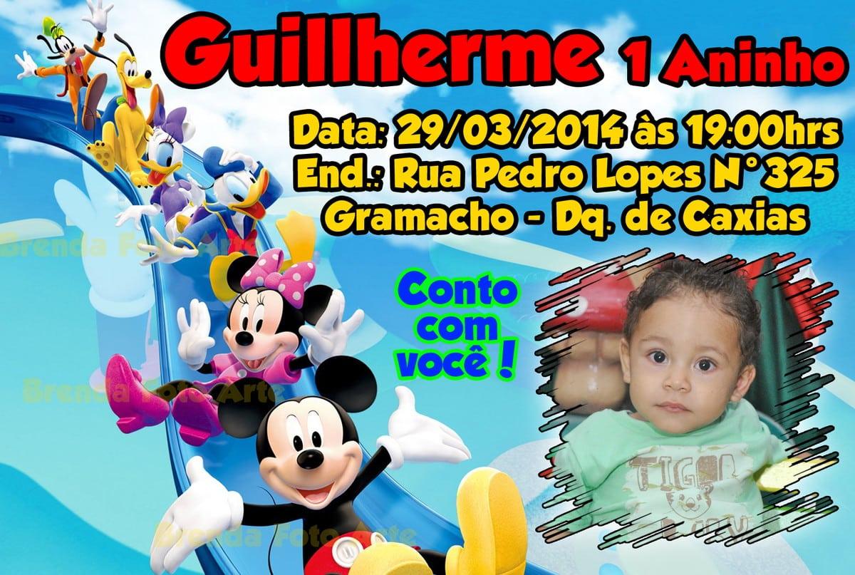 Convite Mickey Mouse E Sua Turma
