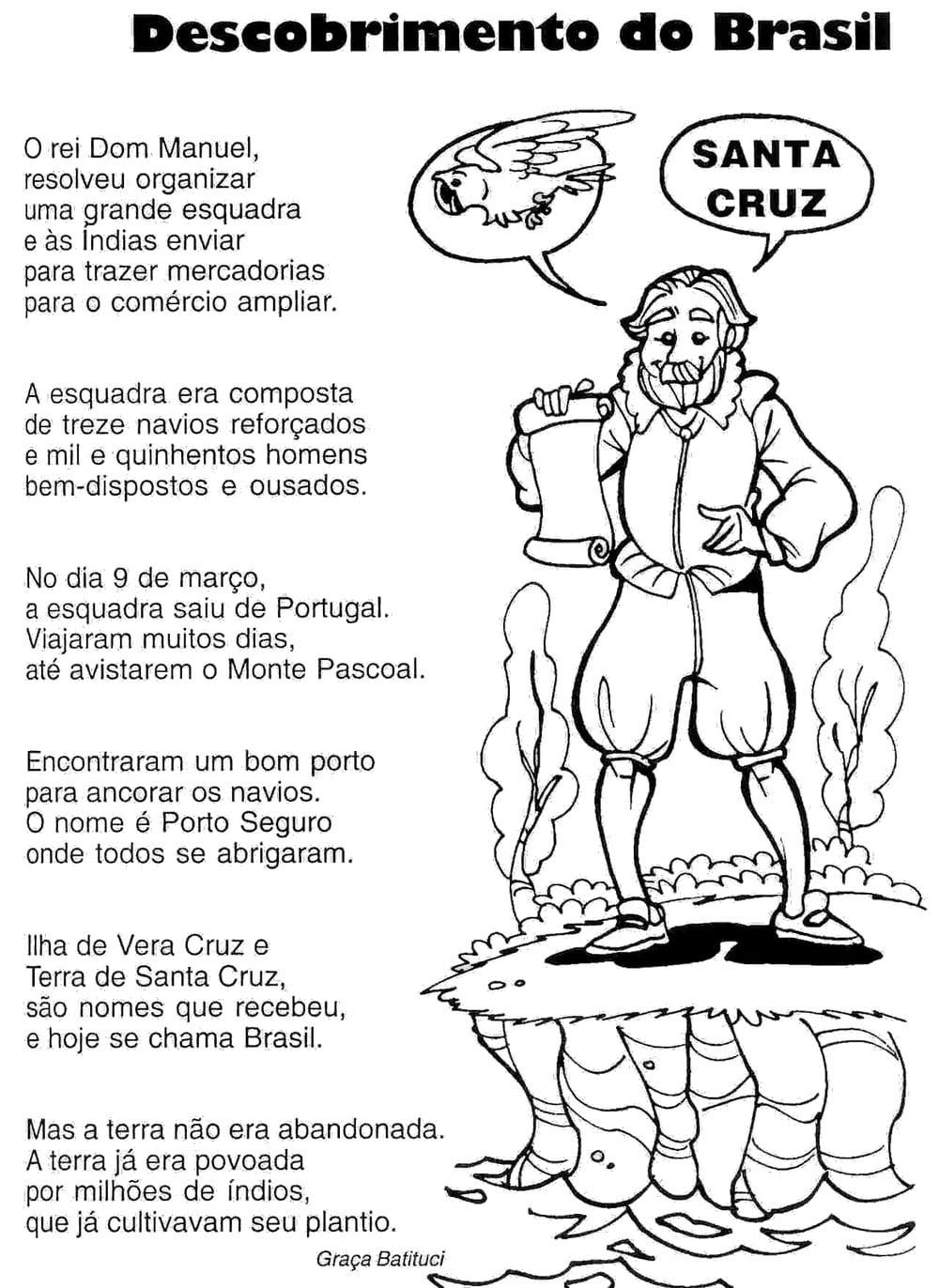 Descobrimento Do Brasil 80 Atividades ExercÍcios Desenhos Para
