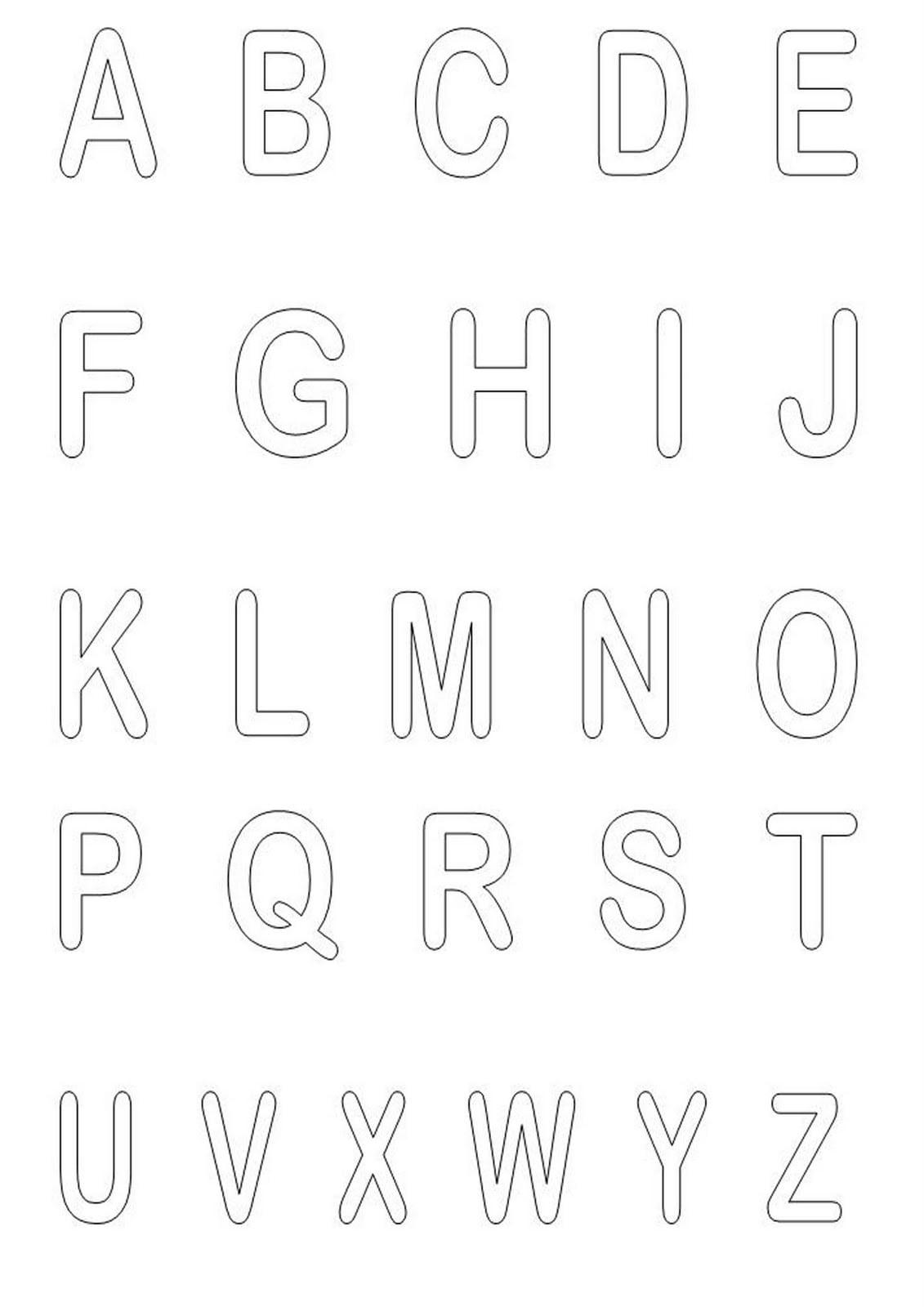 Alfabeto Para Colorir E Imprimir Desenhos
