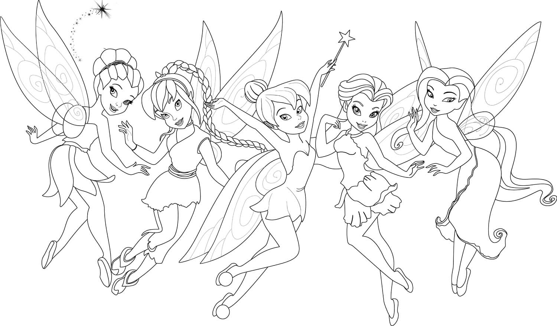 Tinker Bell Para Colorir