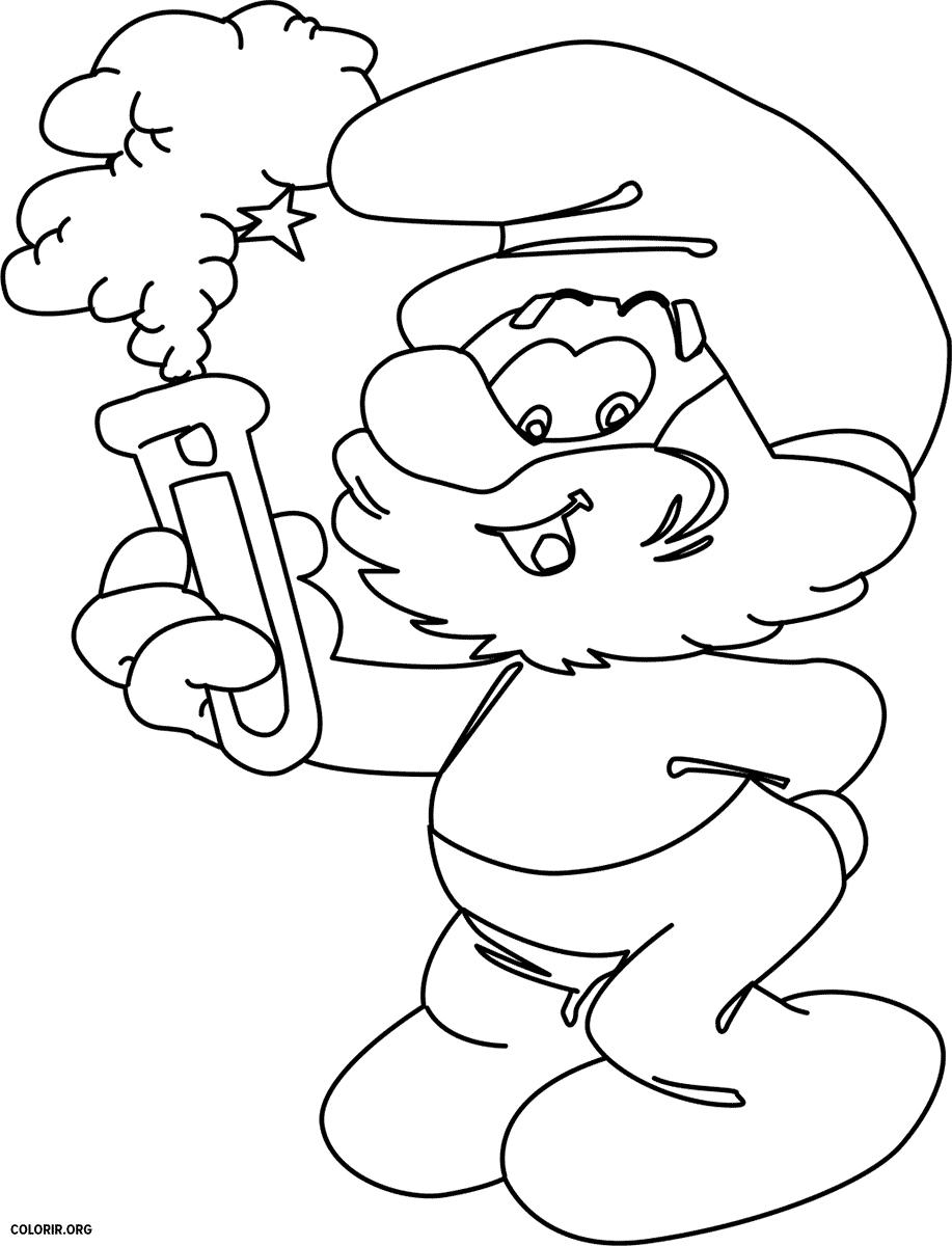 Desenhos Dos Smurfs Para Colorir — Colorir Org