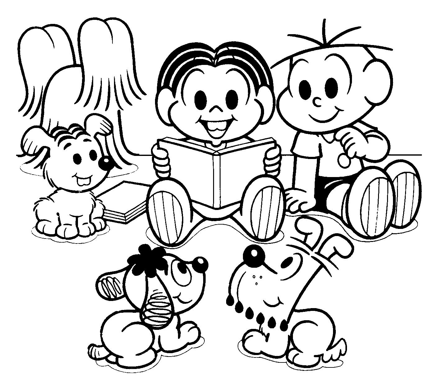 Desenhos Da Turma Da Mônica Para Colorir E Imprimir
