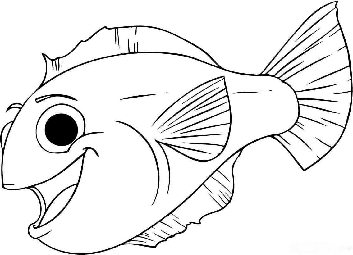 Imagem De Peixes Para Colorir