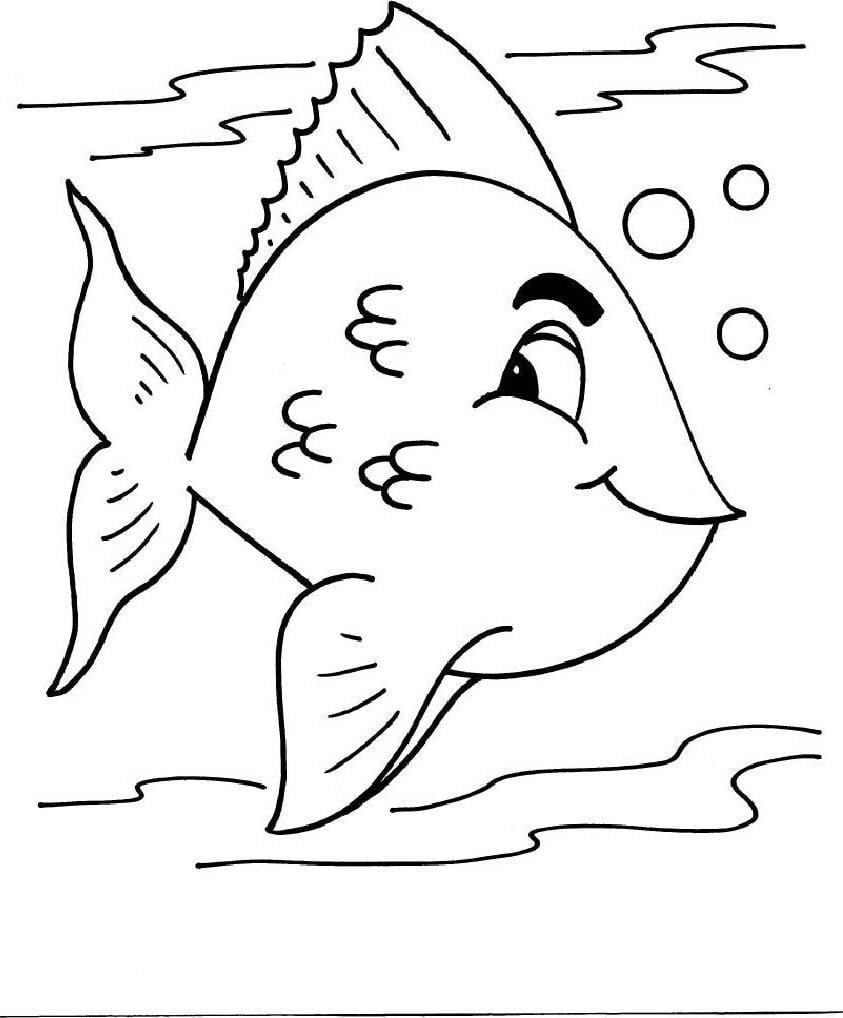 Desenho Peixe Para Colorir