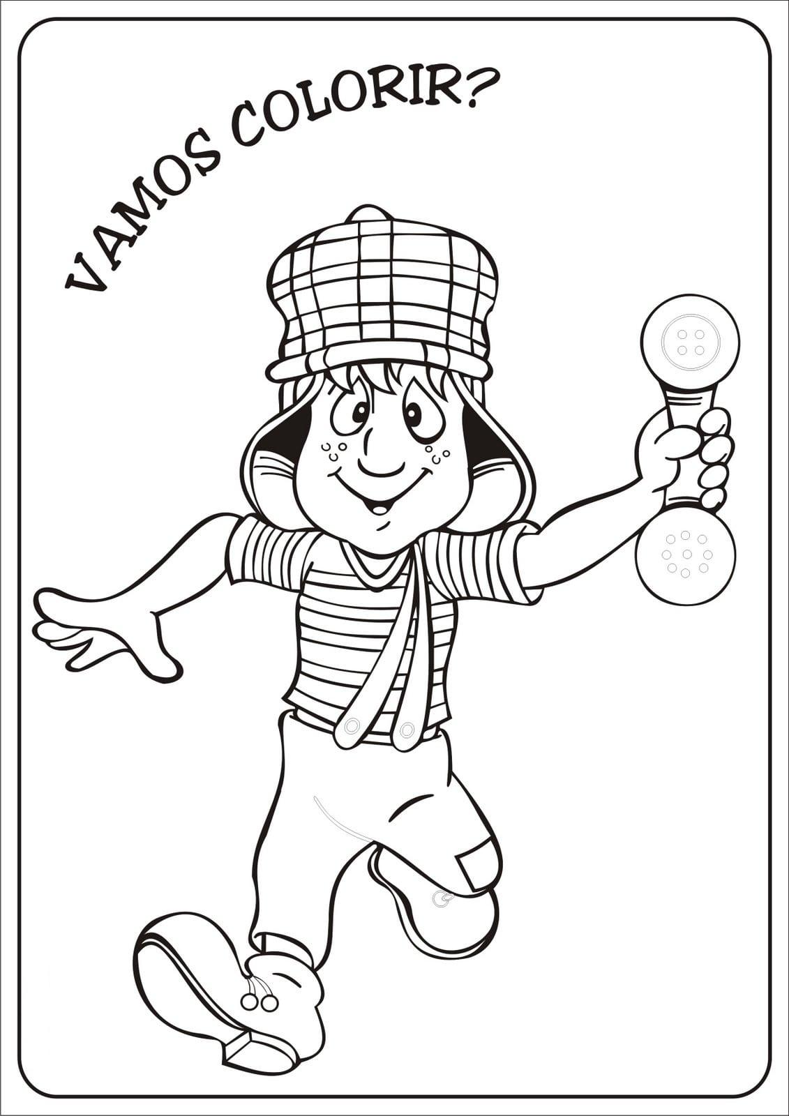 Desenho Do Chaves Para Colorir E Imprimir – Pampekids Net