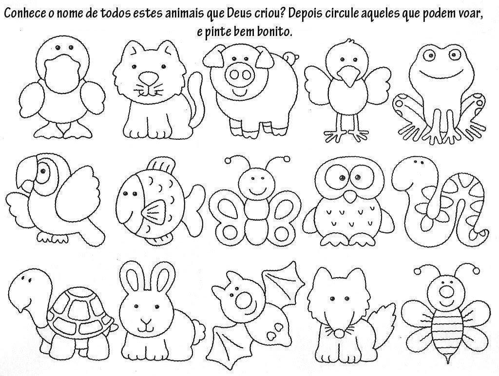 Desenhos Da Arca De Noé Para Colorir E Imprimir