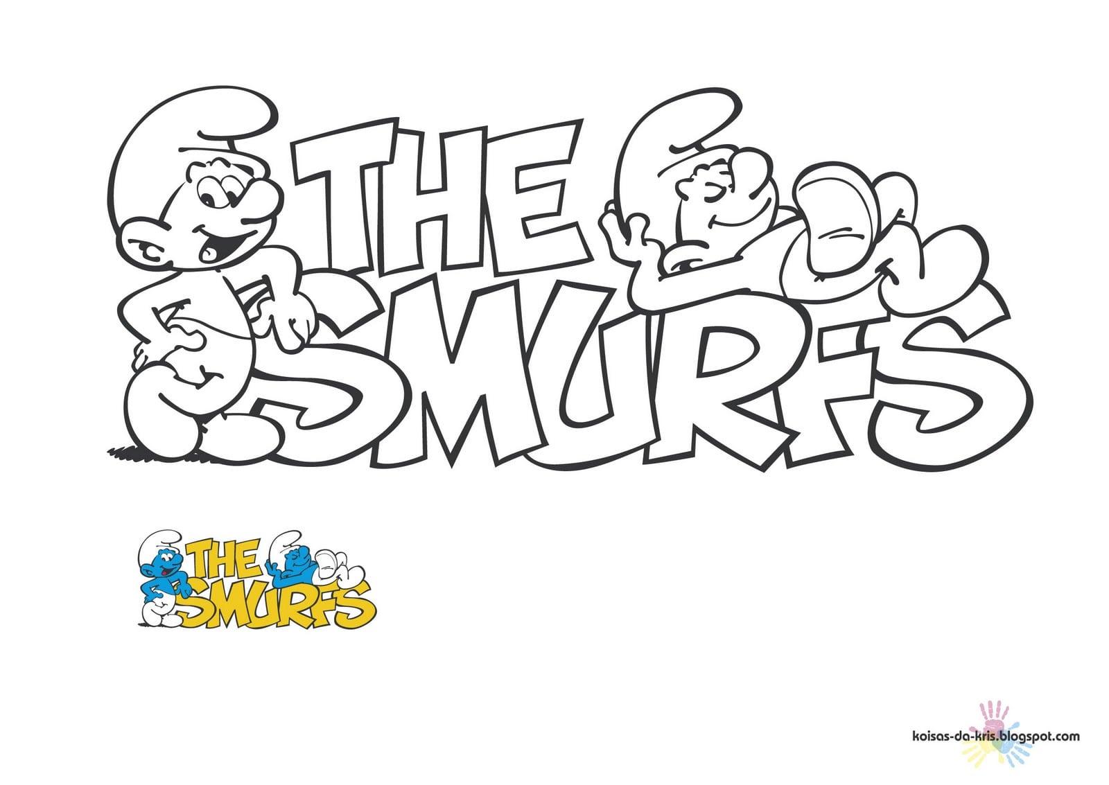 Os Smurfs Para Colorir