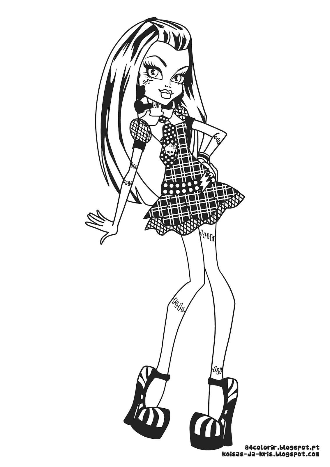 Desenho Colorir Monster High