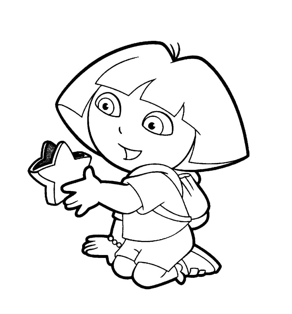 desenhos para colorir da dora aventureira gratis