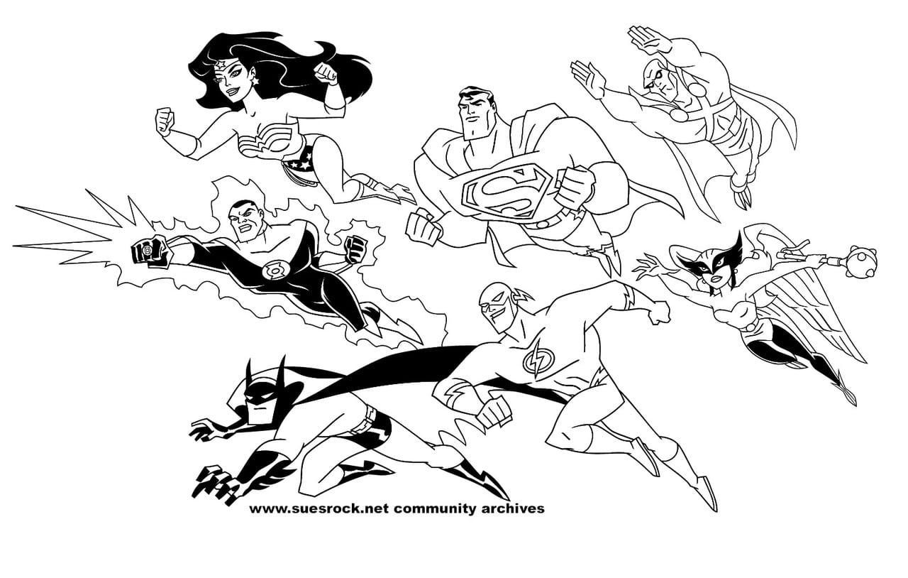 Colorir Liga Da Justiça