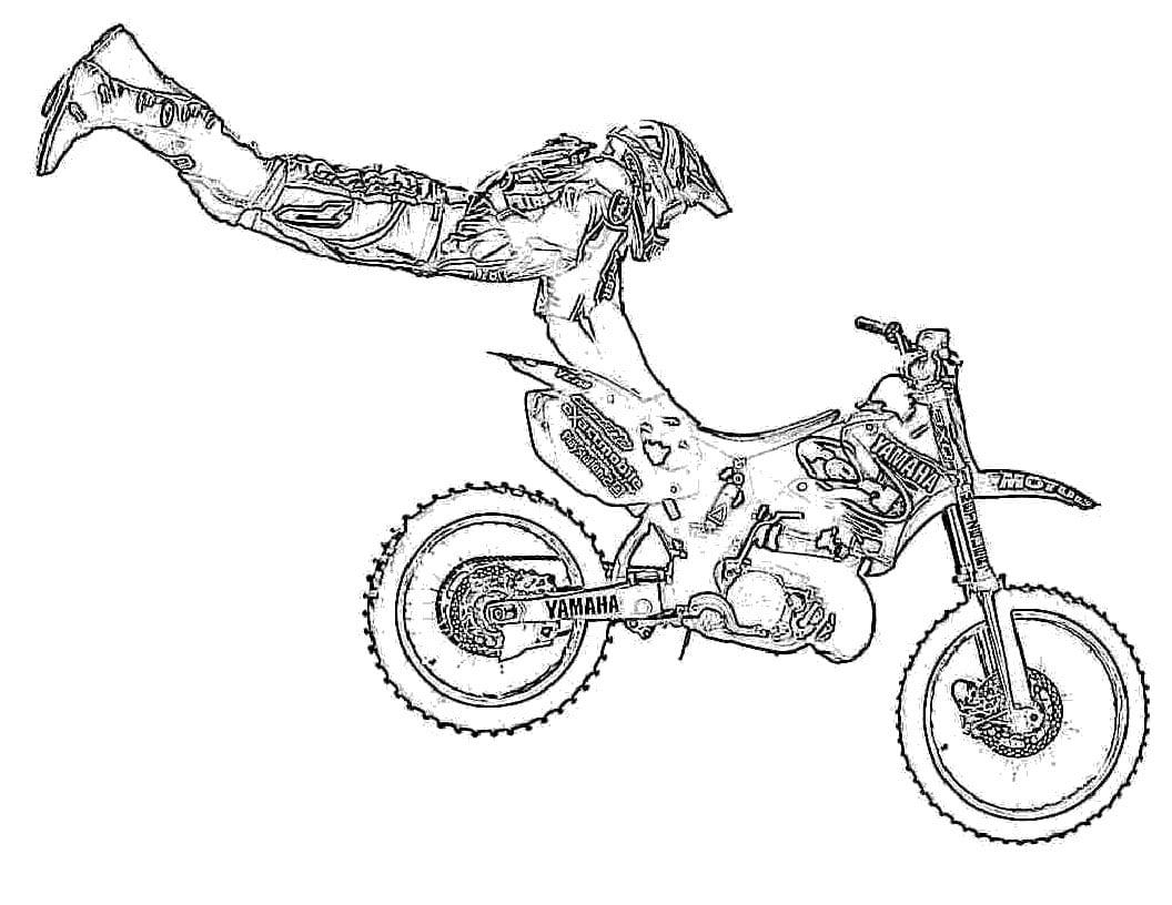 Desenho De Moto Para Colorir
