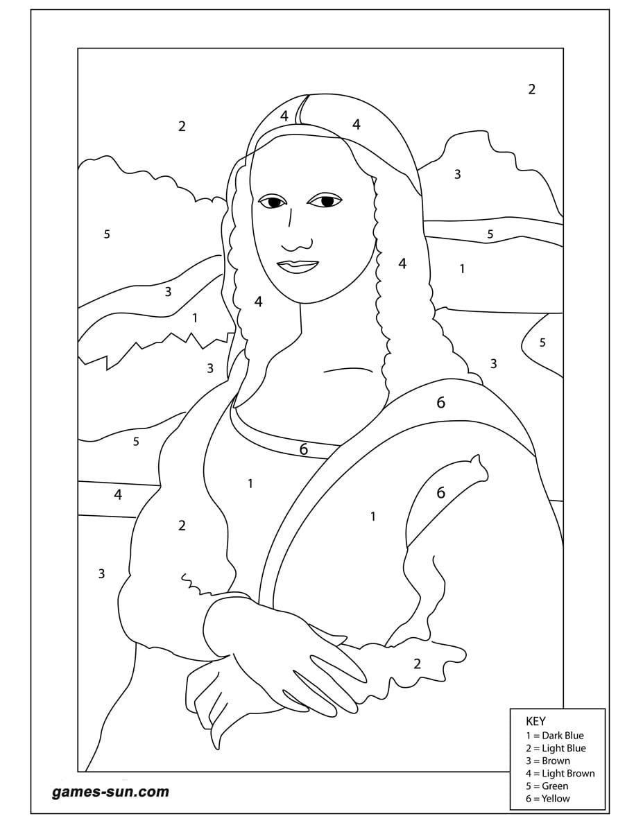 Desenho Para Pintar Monalisa