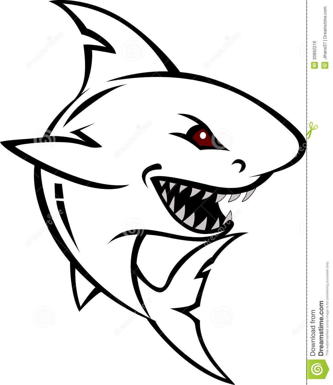 Desenhos Para Colorir De Tubarão