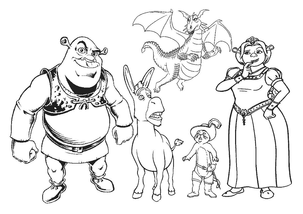 Desenhos Para Colorir Shrek
