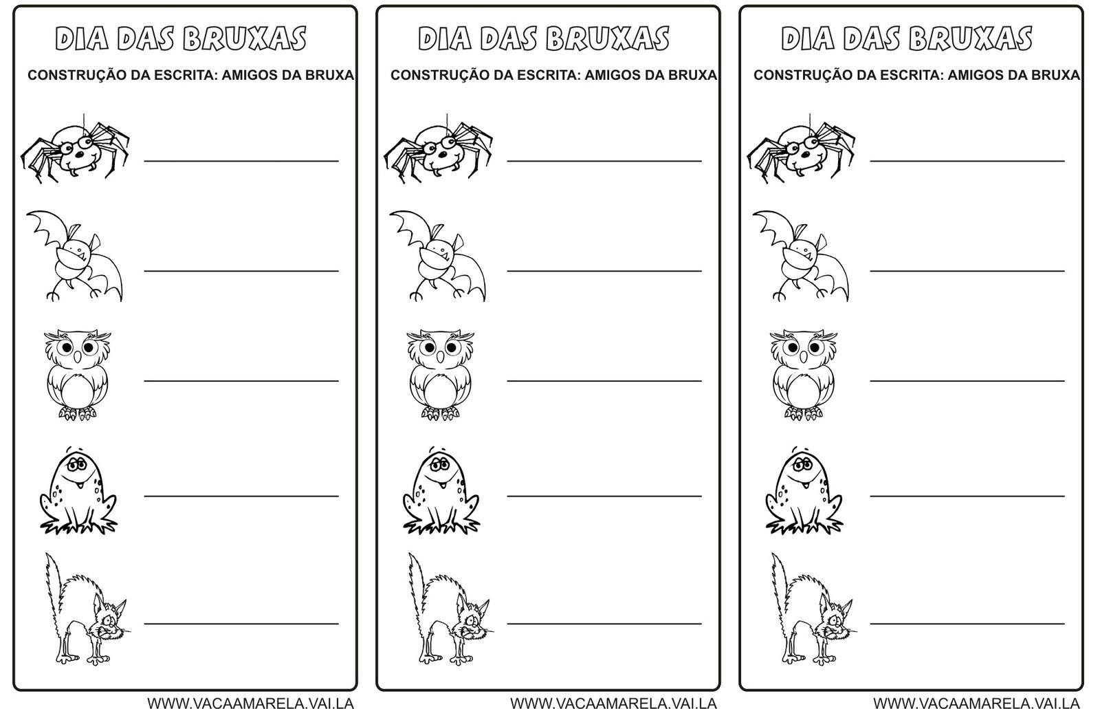 Dia Das Bruxas Atividades Halloween Desenhos ExercÍcios Para