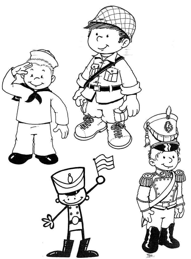 35 Atividades Dia Do Soldado ExercÍcios Desenhos Para Colorir