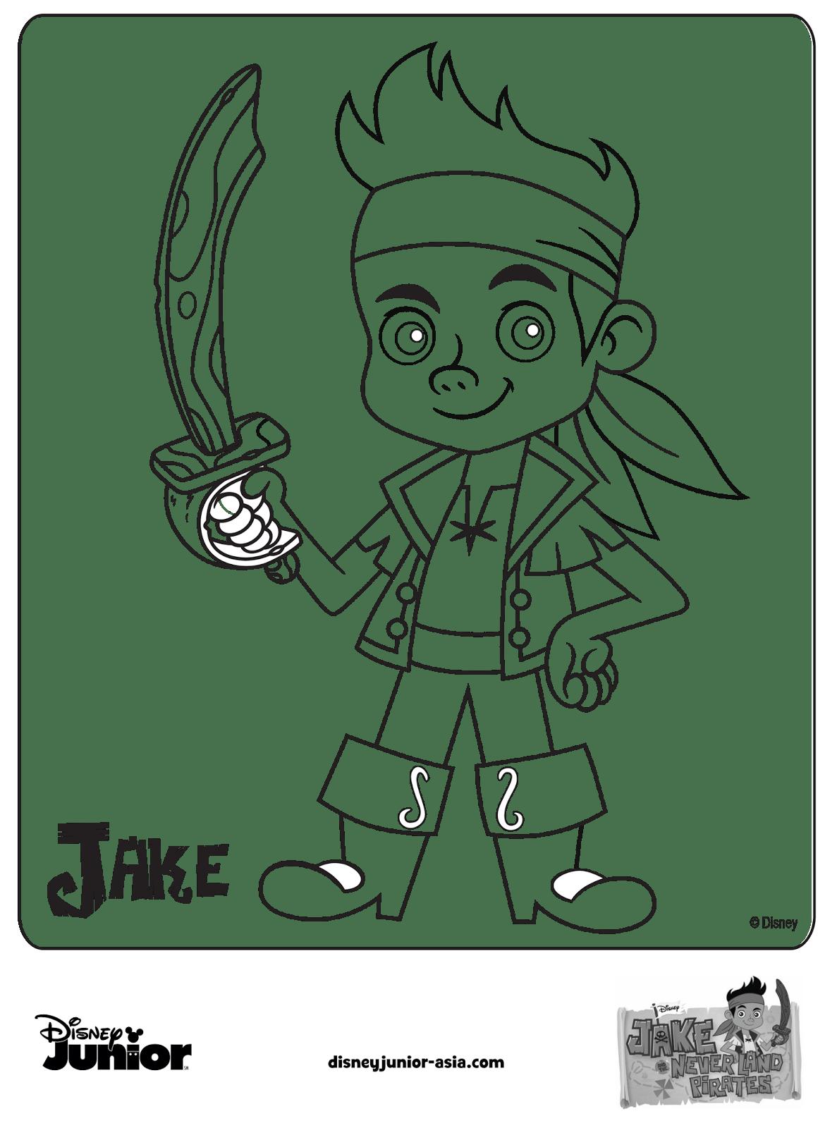 Casinha De Criança  Desenhos Para Colorir Jake E Os Piratas