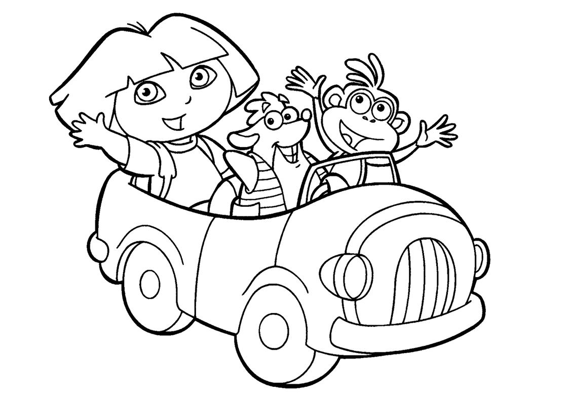 Dora, A Aventureira Para Colorir
