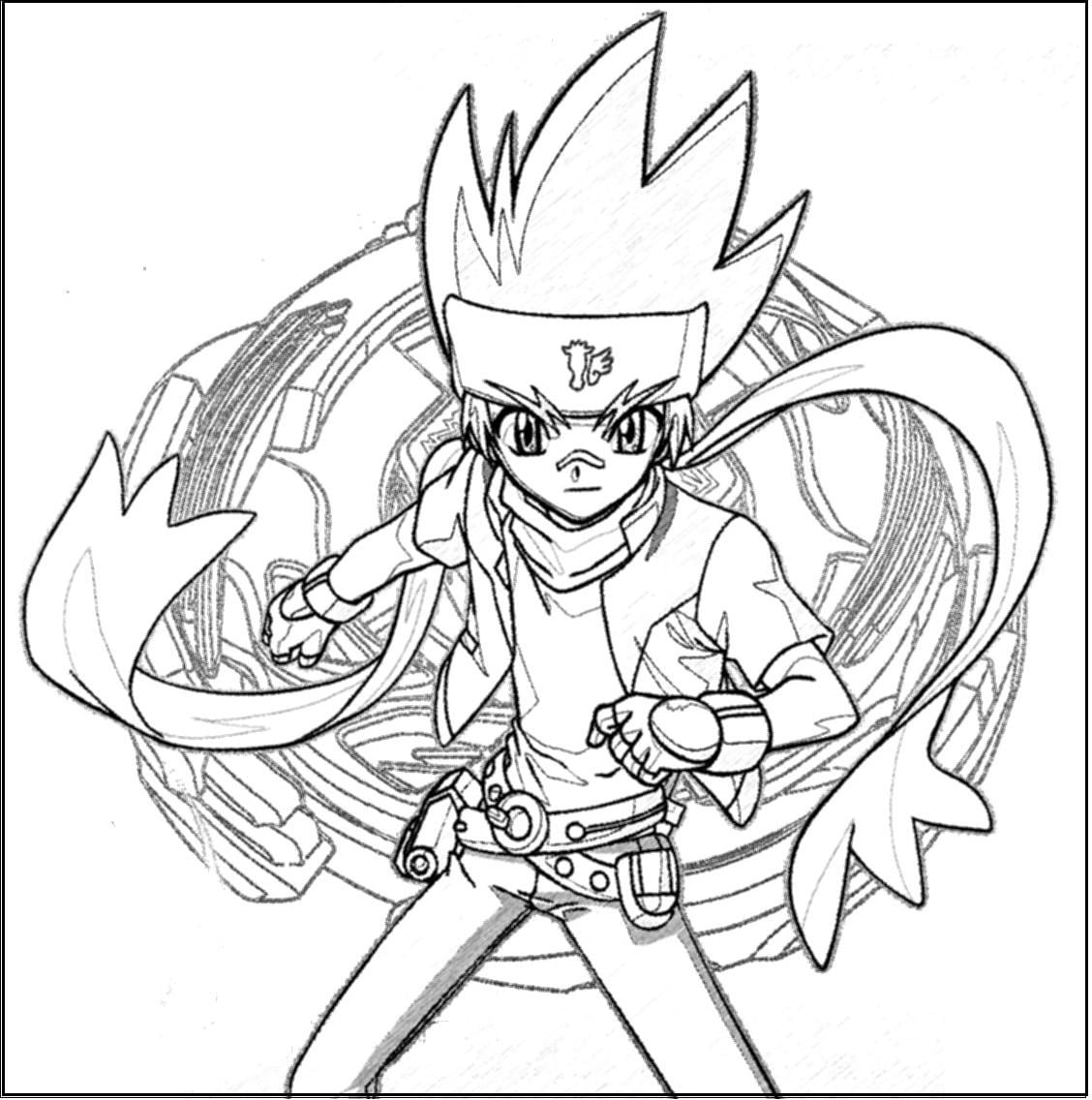 Beyblade  5 (cartoons) – Printable Coloring Pages
