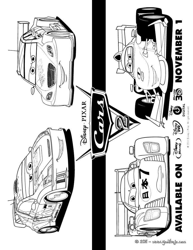 Dibujo De Cars 2 Para Colorear
