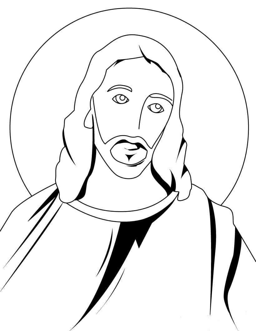 Desenho De Face De Jesus Crucificado Para Colorir