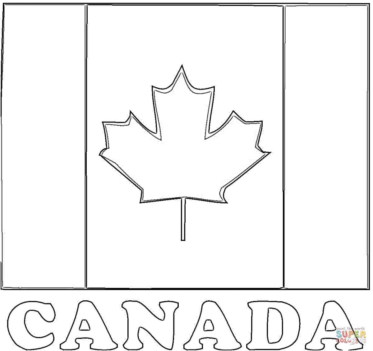 Desenho De Bandeira Do Canadá Para Colorir