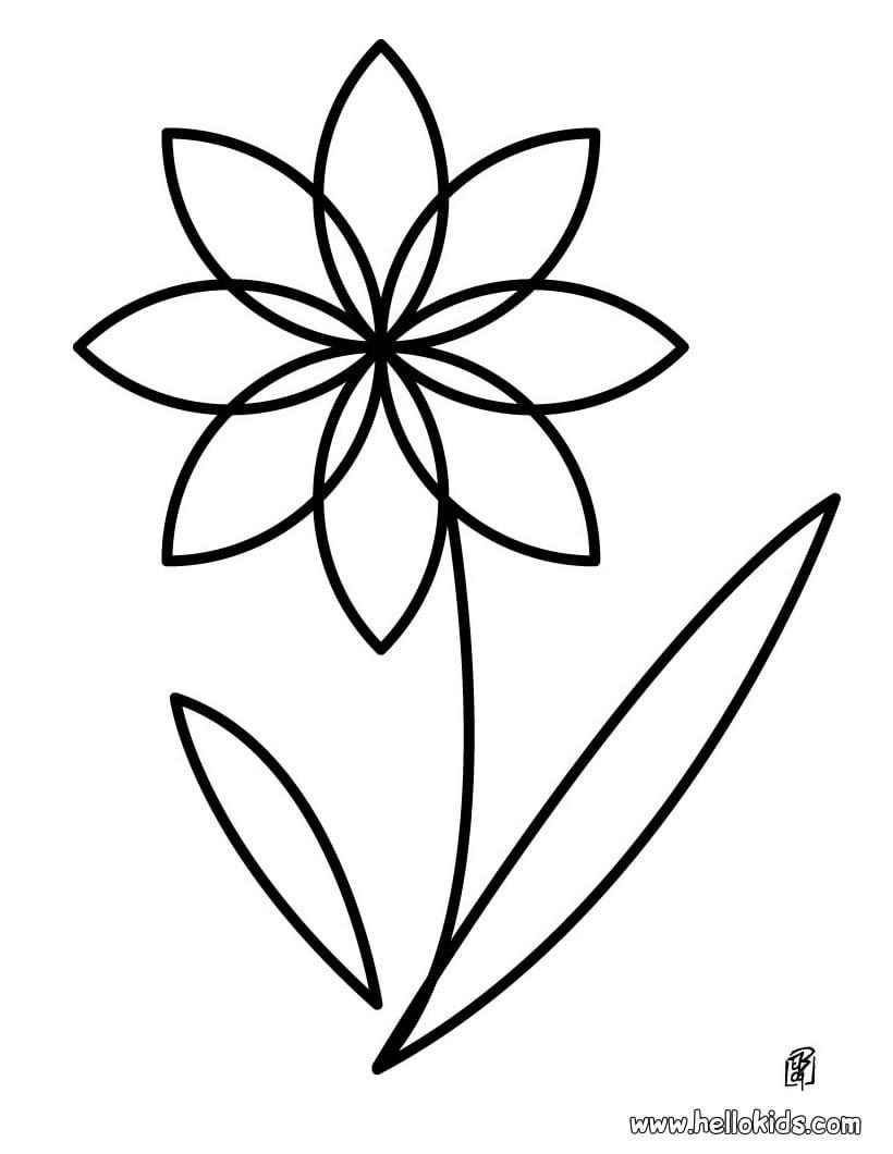 Desenhos Para Colorir De Desenho Da Linda Flor Para Colorir