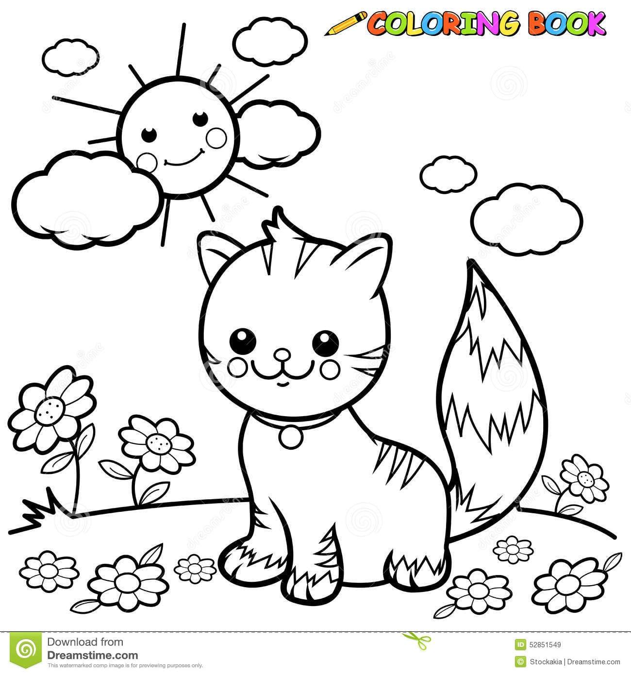 Gato Imagem Para Colorir