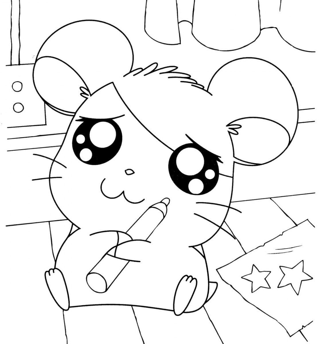 Dibujos De Hamtaro Para Pintar  Dibujos De Hamtaro Para Colorear