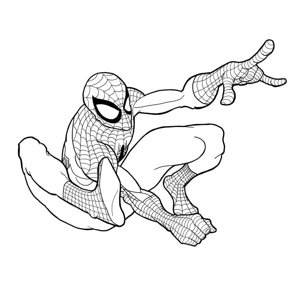 Desenho De Homem Aranha Para Colorir
