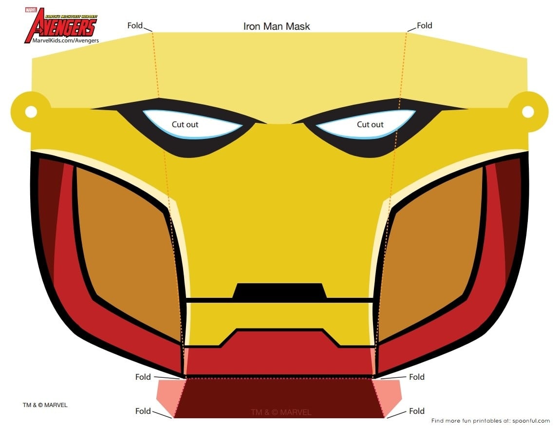 Molde Máscara Homem De Ferro!