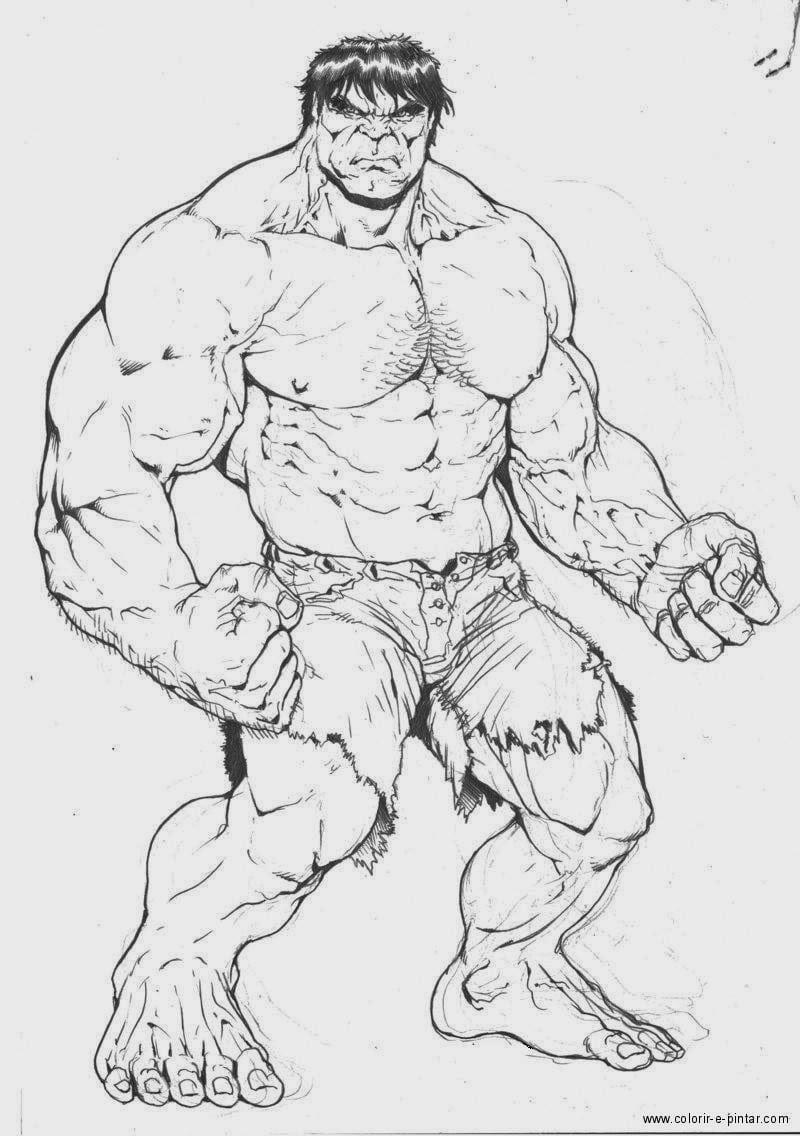 Desenhos Do Hulk Para Colorir E Pintar