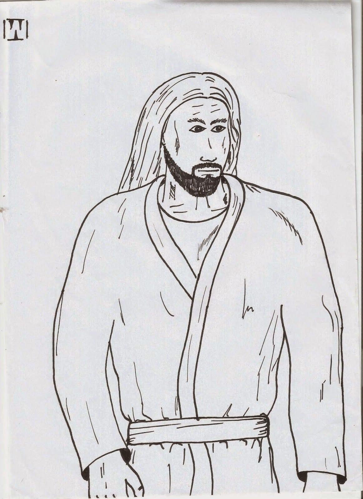 Assuntos Para Jovens E Adultos   Desenho De Jesus Cristo