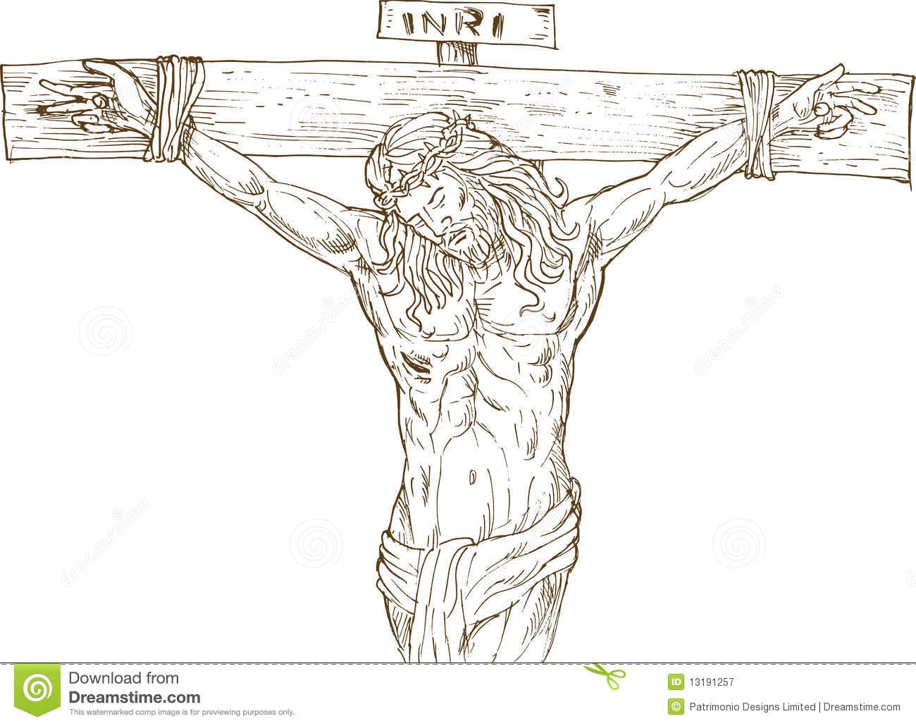 Jesus Christ Hanging On The Cross Royalty Free Stock Photography