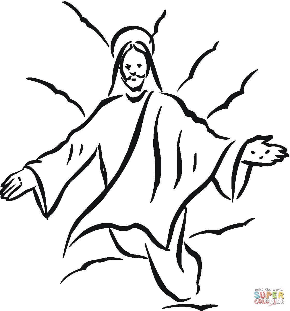 rosto de jesus cristo para colorir