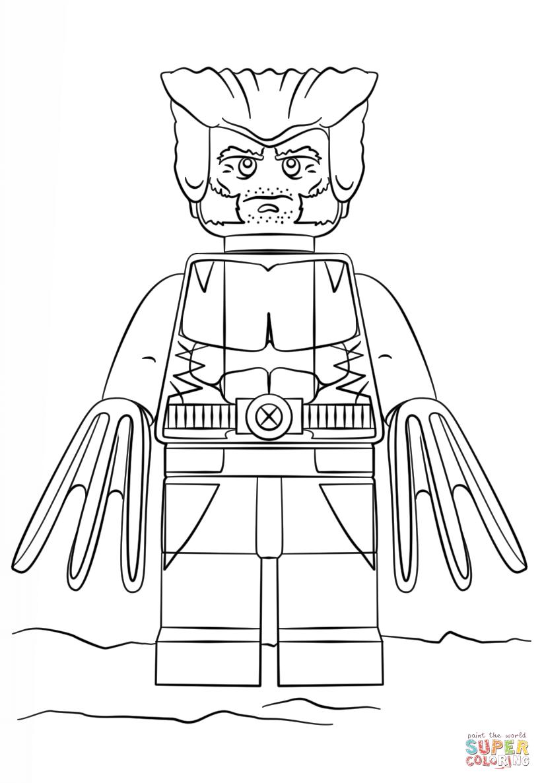 Desenho De Lego Wolverine Para Colorir