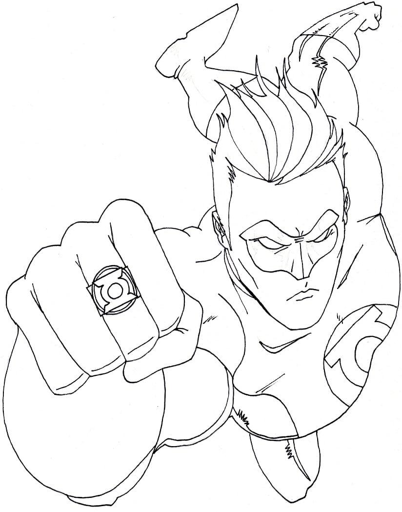 Desenhos Para Colorir Liga Da Justiça  Batman, Super Homem, Flash