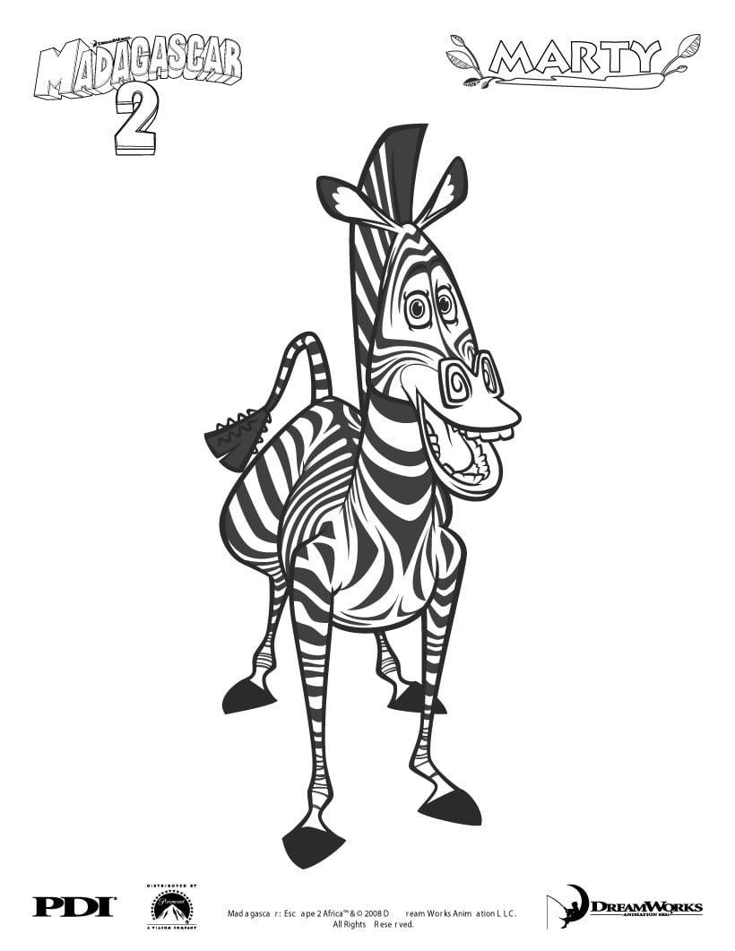 Páginas Para Colorir Madagascar