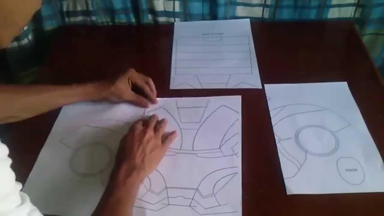 Capacete Homem De Ferro De Papelao Mark 4 Parte 1