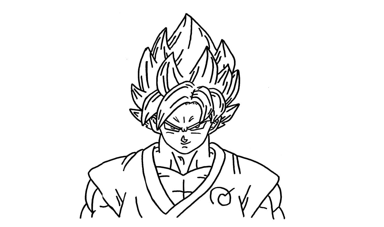 Como Desenhar O Goku Super Saiyajin Deus Azul Passo A Passo (ssj