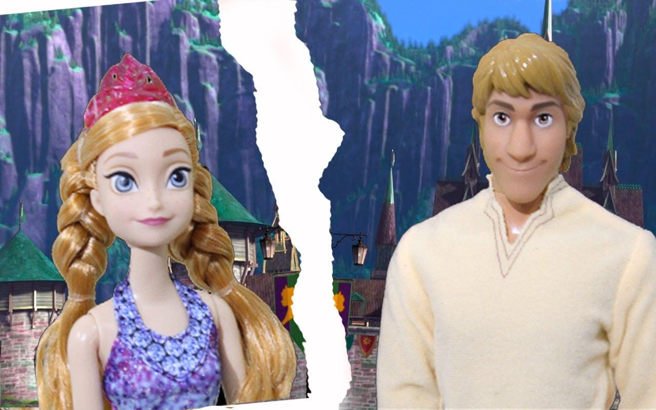 Anna Frozen Coloca Fim No Namoro Com Kristoff  Novela Da Frozen Em