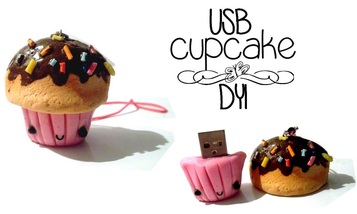 Decora Tu Usb   Dyi   Usb De Cupcake  Porcelana Fria