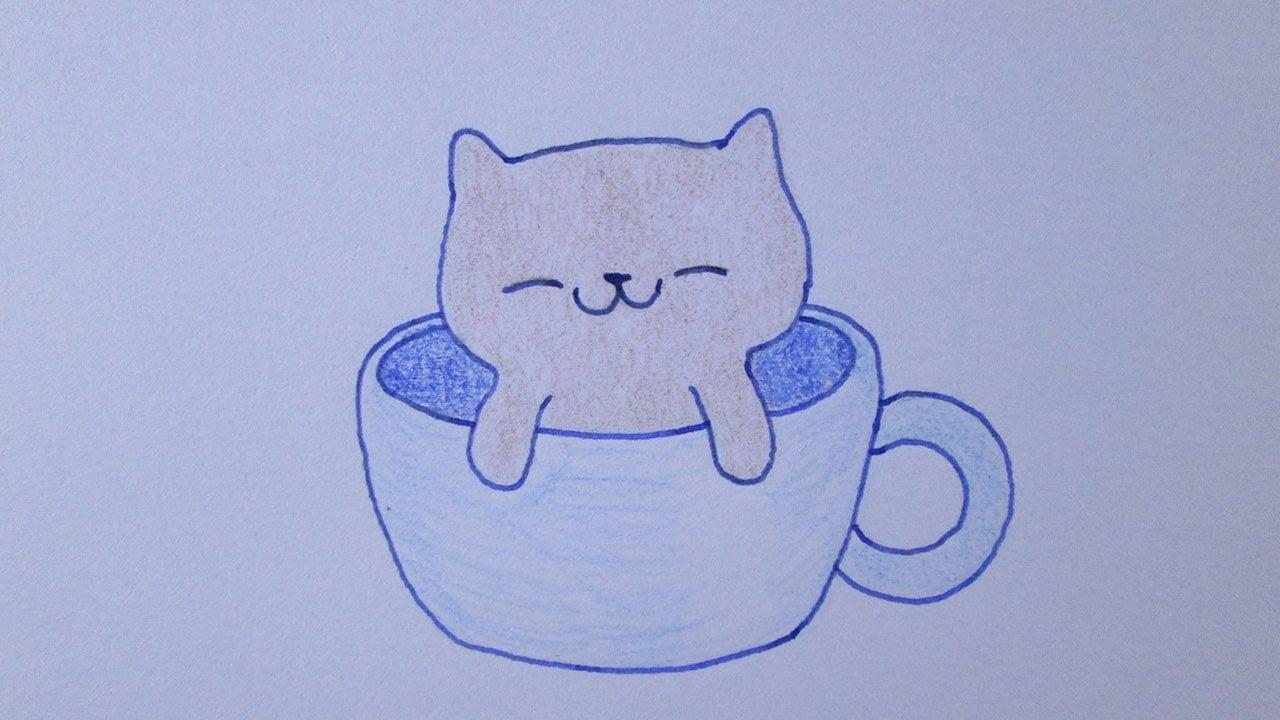 Como Desenhar Um Gatinho Muito Fofo