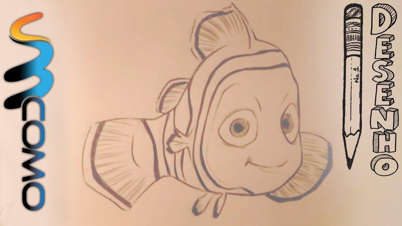 Desenhando O Nemo Do Filme Procurando Nemo
