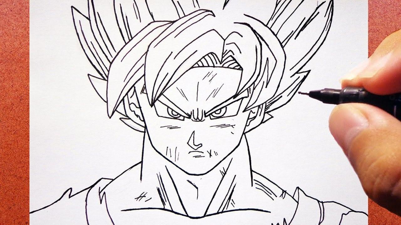 Como Desenhar O Goku Super Saiyan Blue