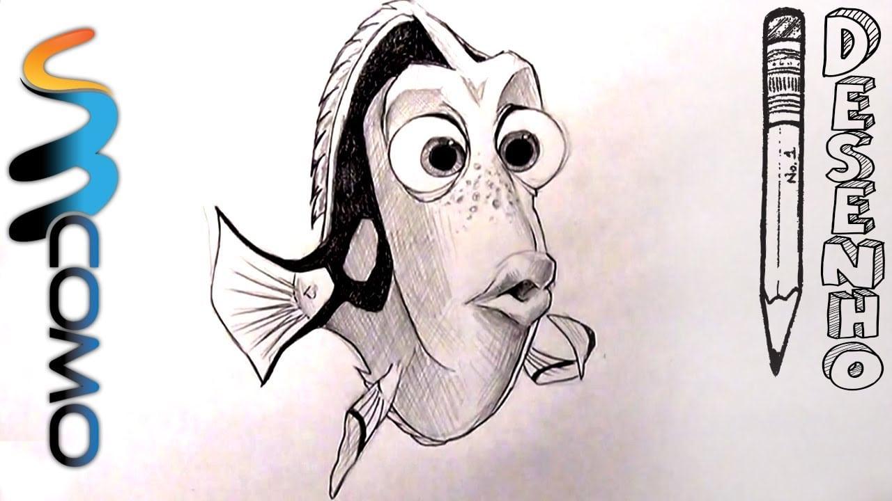 Desenhando Dory Do Filme Procurando Nemo
