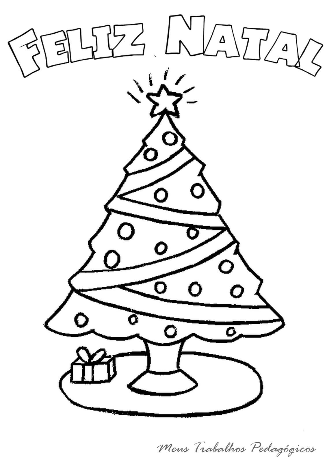 Desenho De Arvore De Natal Para Colorir