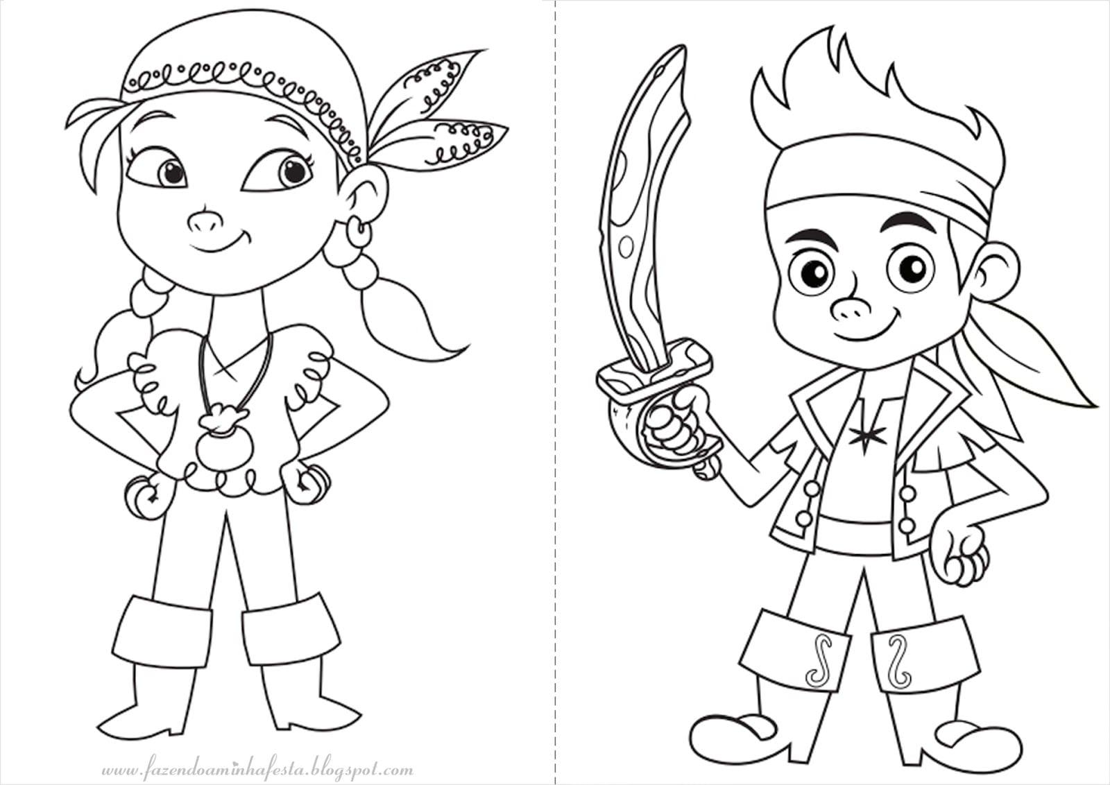 Desenho De Pirata Para Colorir