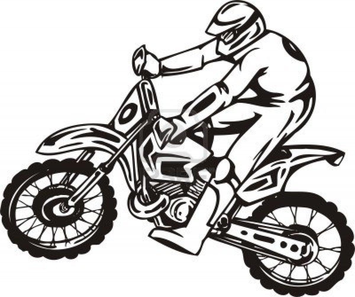 Desenhos De Moto Para Colorir