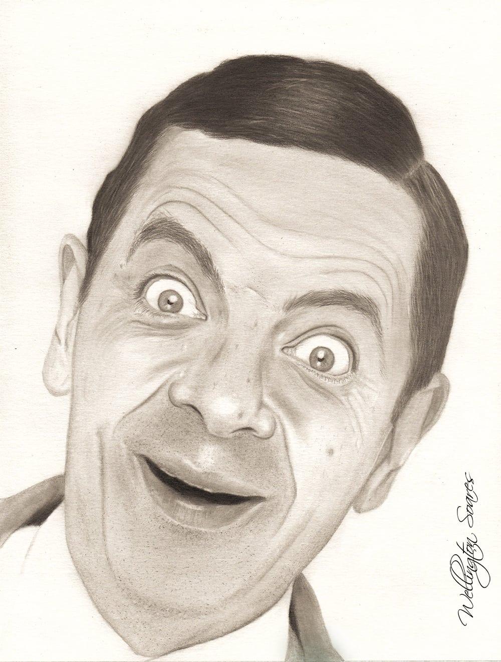 Wellington Soares  Desenho Do Mr Bean  Em Tamanho A4